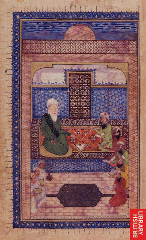 Ferdowsi with other court poets