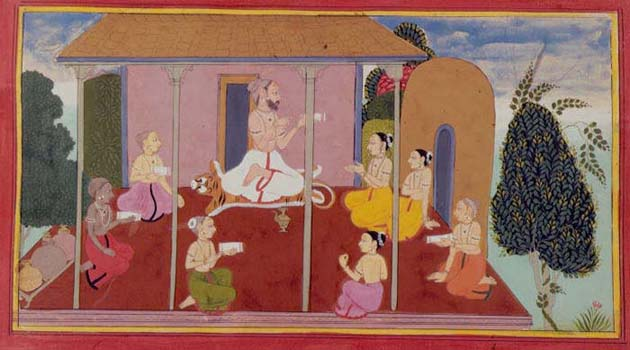 Valmiki narrating the Ramayana