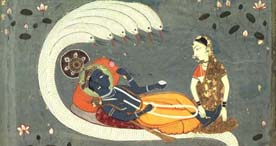 Image of Vishnu and Lakshmi
