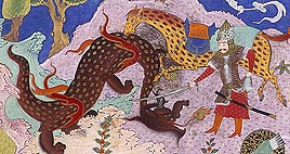Rostam kills Dragon