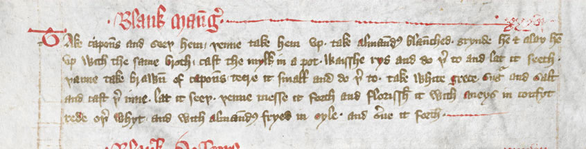 Blank Mang taken from The Forme of Cury, 1037.g.28