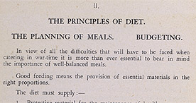 Detail of Hard-Time Cookery - The Principles of Diet