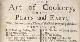 Detail of The Art of Cookery - Title page