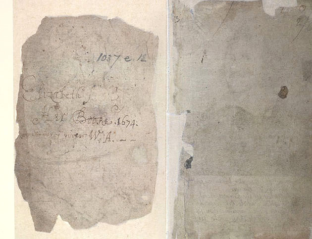 Image of Handwritten first page