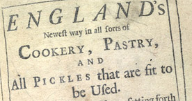 Detail of England's newest way in Cookery - Title Page