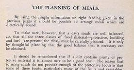 Detail of Hard-Time Cookery - Planning Meals