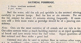 Detail of Hard-Time Cookery - Porridge and Polish