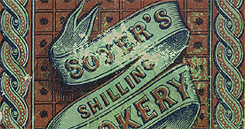 Detail of Soyer's Shilling Cookery - Front Cover