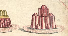 Detail of Mrs Beeton's desserts