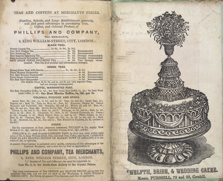Image of Soyer's Shilling Cookery - Advertisement for Wedding Cakes