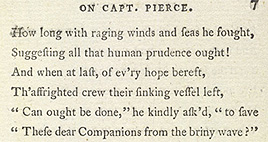 Detail of Monody on the Death of Captain Pierce - Page 7