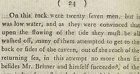 Detail of Interesting and Authentic Account of the Halsewell, page 20