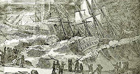 Detail of Distressing Shipwrecks - Title Page