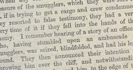 Detail of Old Folkestone Smugglers - Blindfolded p.38