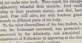 Detail of Old Folkestone Smugglers - Lieutenant Peat p.37