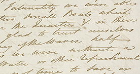 Extract from a letter from Raffles to his sister Maryanne Flint