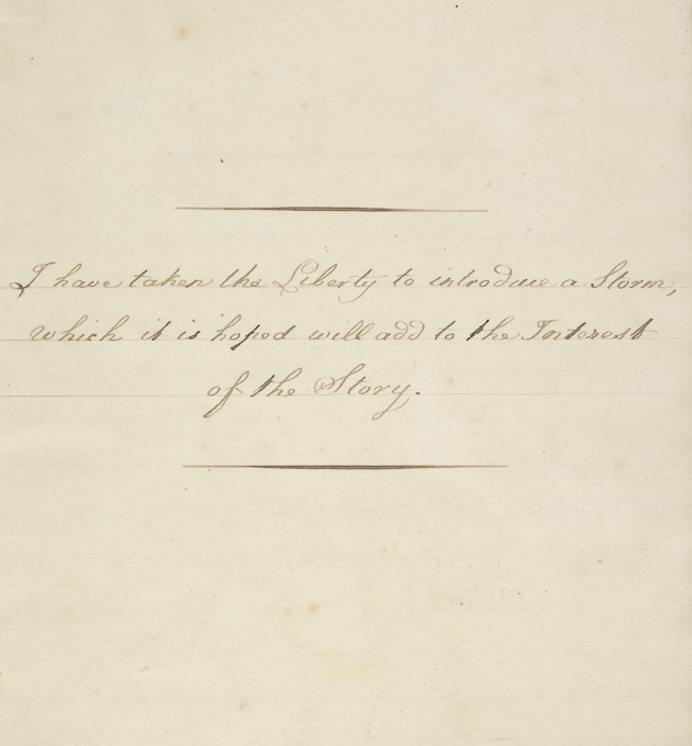 MSS EUR D742/8 f. 5. Manuscript poem by Mr Glover entitled 'Loss of the Fame', 2 February 1825.