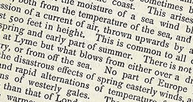 Detail of Some Account of Lyme Regis - Climate p.40