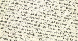 Detail of Some Account of Lyme Regis - The Black Dog 2 p.8