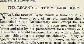 Detail of Some Account of Lyme Regis - The Black Dog p.7