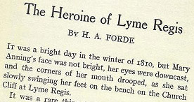 The Heroine of Lyme Regis - Bright Day p.1