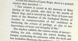The Heroine of Lyme Regis - Glass Window p.18