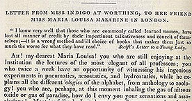 Letter from Miss Indigo - Tittle Tattle p.332