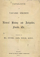 Detail of Catalogue of Valuable Specimens - Title Page