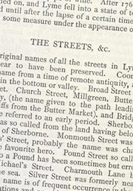 Detail of Some Account of Lyme Regis - Streets p.5