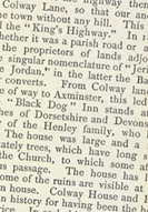 Detail of Some Account of Lyme Regis - Colway House p.6