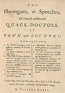 Detail The Harangues or Speeches of Quack-Doctors - Title Page