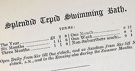 Detail of Five Minutes' Advice - Advert for Swimming