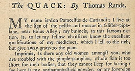 Detail of The Harangues or Speeches of Quack-Doctors - Farting p.8