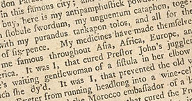 Detail of The Harangues or Speeches of Quack-Doctors - International Fame p.10