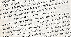 Detail of Visitor's Handbook to Cheltenham - Dress code p.23