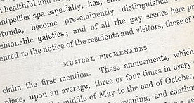 Detail of Visitor's Handbook to Cheltenham - Musical Promenades p.20