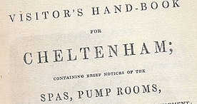 Detail of Visitor's Handbook to Cheltenham - Title Page