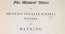 Detail of Five Minutes Advice on the Bath Waters - Title Page