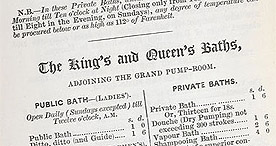 Detail of Five Minutes' Advice- Advert for Royal Baths