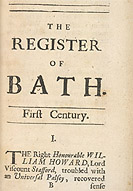 Detail of Register of Bath - Universal Palsey p.1