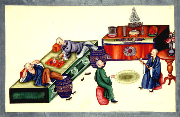 Chinese picture illustrating the evils of opium, OR 7408, f.10