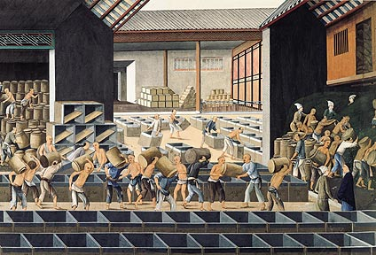 Tea warehouse by a Chinese artist, c.1800, Add. OR 4665