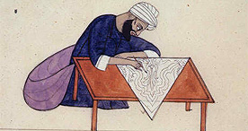 A pattern drawer preparing a design for a Kashmir shawl, Add OR 1704