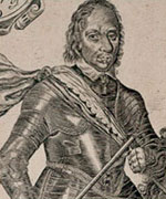 Detail of a portrait of Oliver Cromwell, Lord protector of The Realm (1649-59)