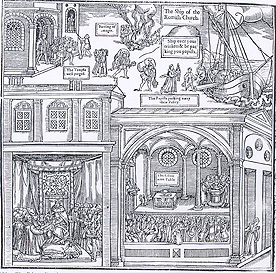 Whole engraving from Foxe's Book of Martyrs