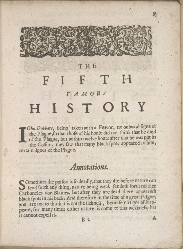 Several Histories of the Plague- Fifth History