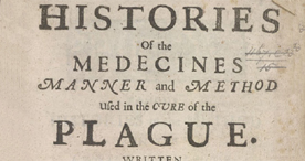 Several Histories of the Plague- Title Page