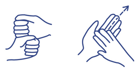Detail of fingerspelling alphabet