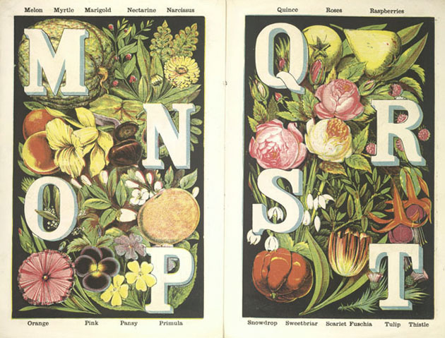 Image of Granmama Goodsoul's fruit and flower alphabet