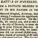 Soldier's letter: Battle of Waterloo
